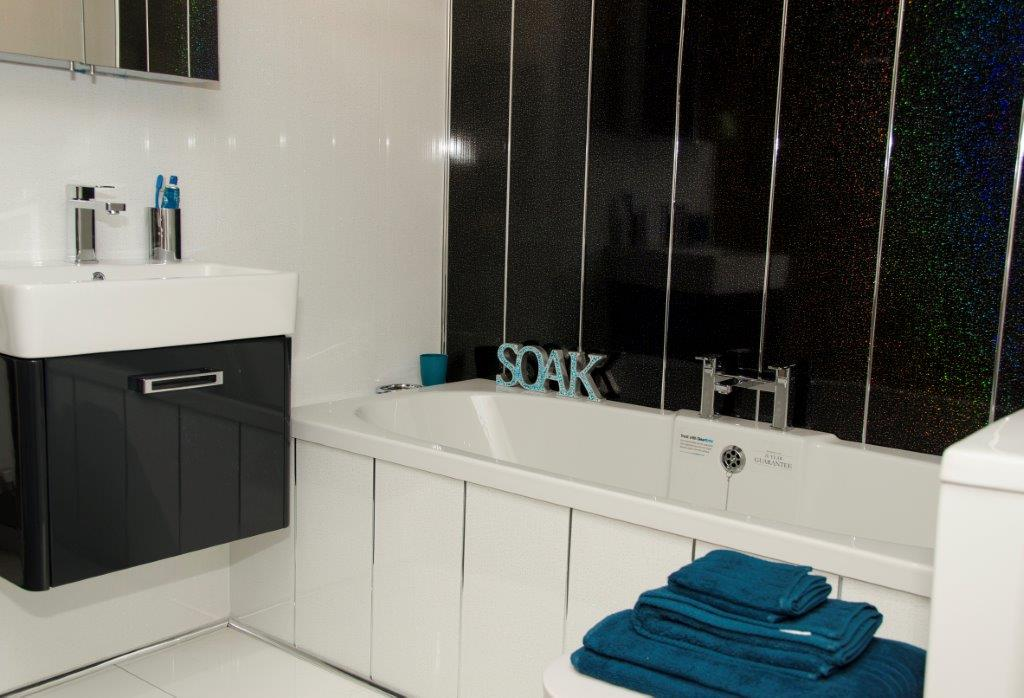 Black Sparkle Bathroom Cladding - Bathroom Cladding Store ...