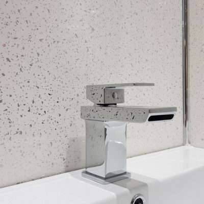 White sparkle wall cladding