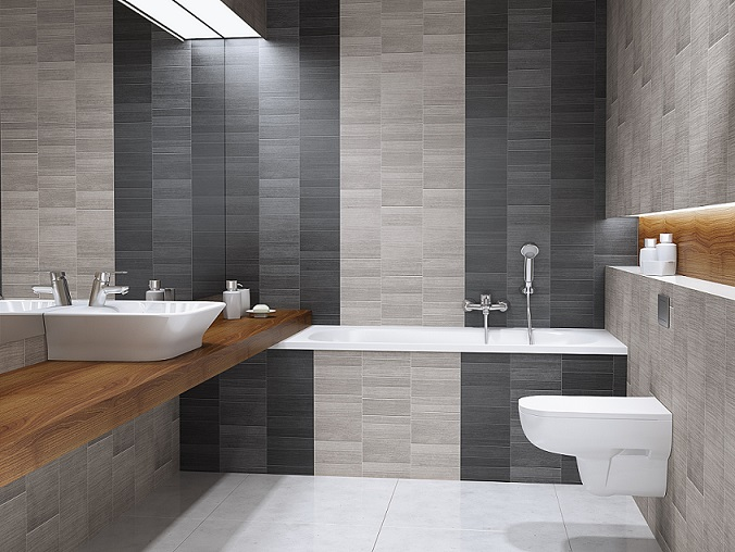 Graphite Large Tile Bathroom Cladding Store