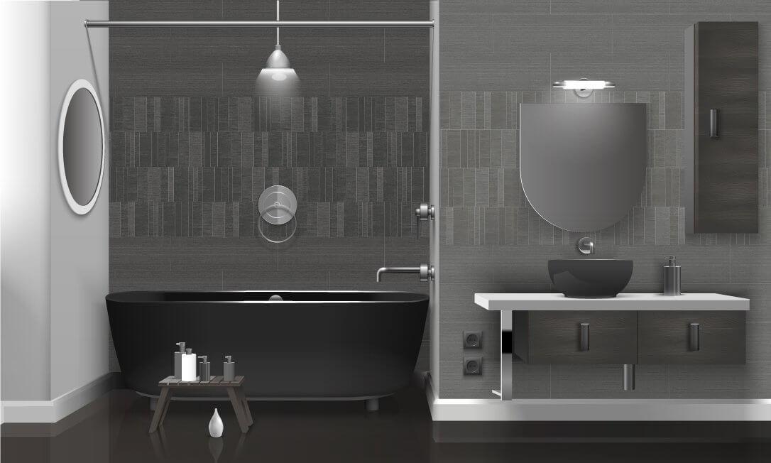 Modern Silver Tiles Large - Bathroom Cladding Store